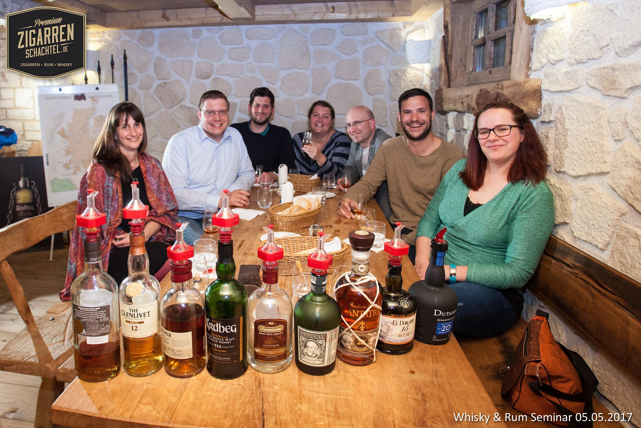 Rum- und Whisky-Seminar am 5. Mai 2017